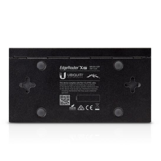 UBNT 千兆企业级有线路由器ER-6P 电信级 6端口 POE供电 SFP光口